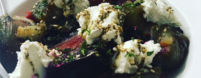 Recipe: Warm Roasted Beets & Shallots with Goat's Cheese & Za'atar