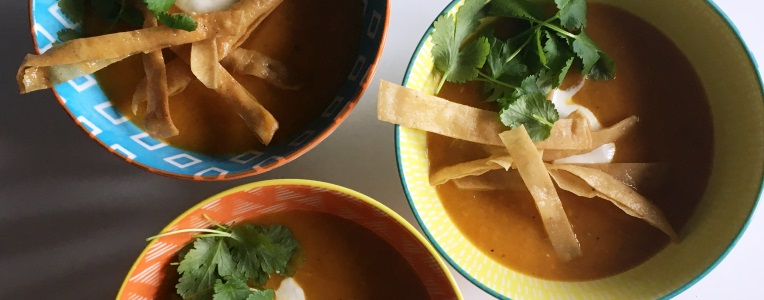 Recipe: Mexican Squash & Tortilla Soup